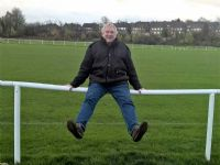 Spectator barrier for use on football and rugby pitches. General low cost sports barrier.